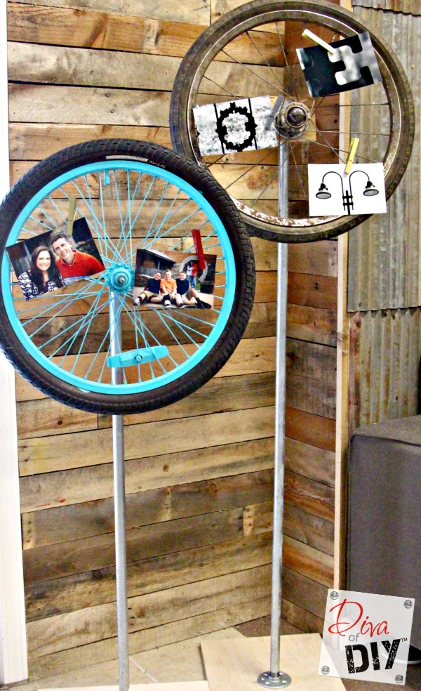 Thrift Store Find: How to Make a Bicycle Wheel Memo Board