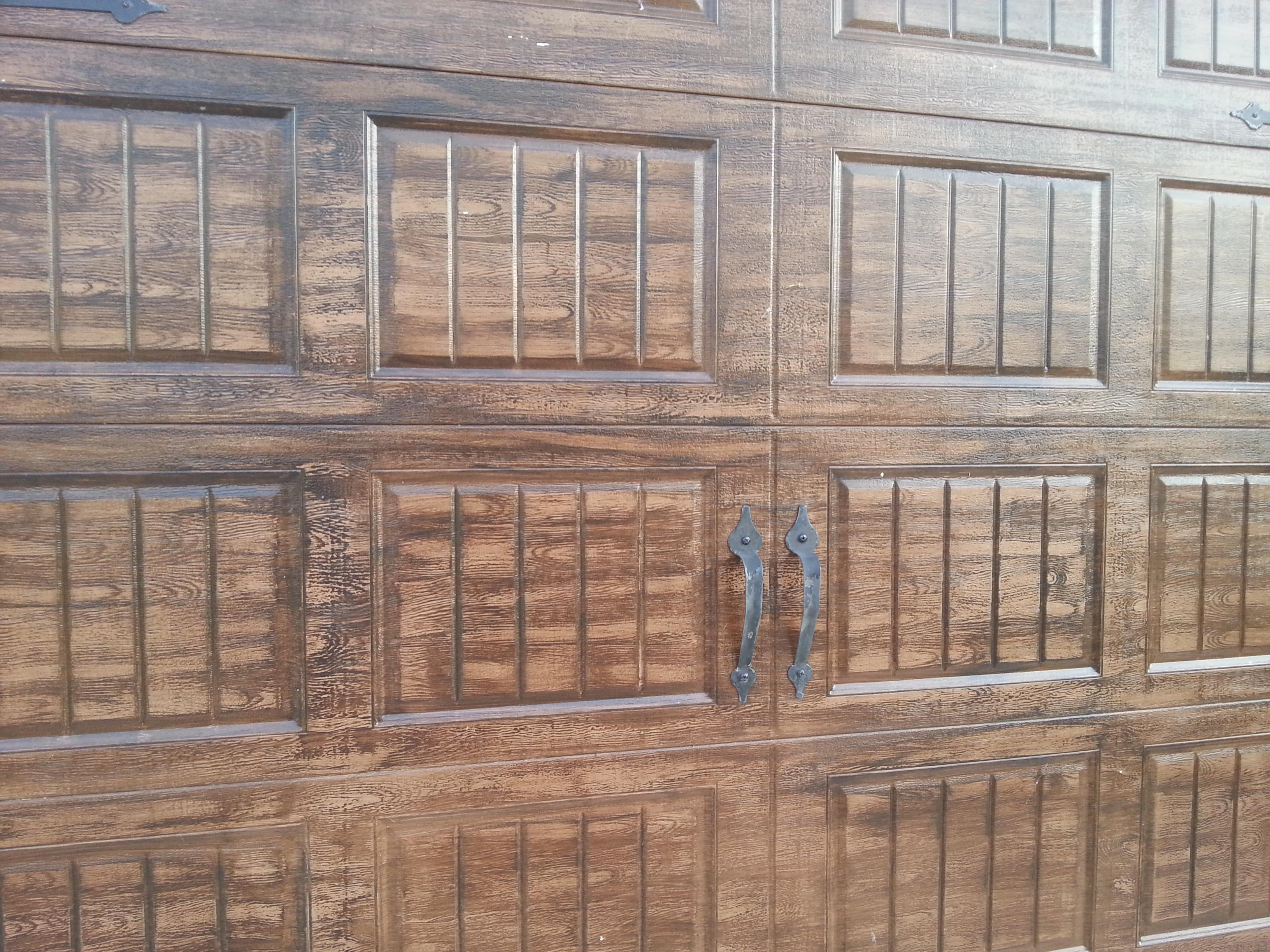 Faux Wood Garage doors - metal