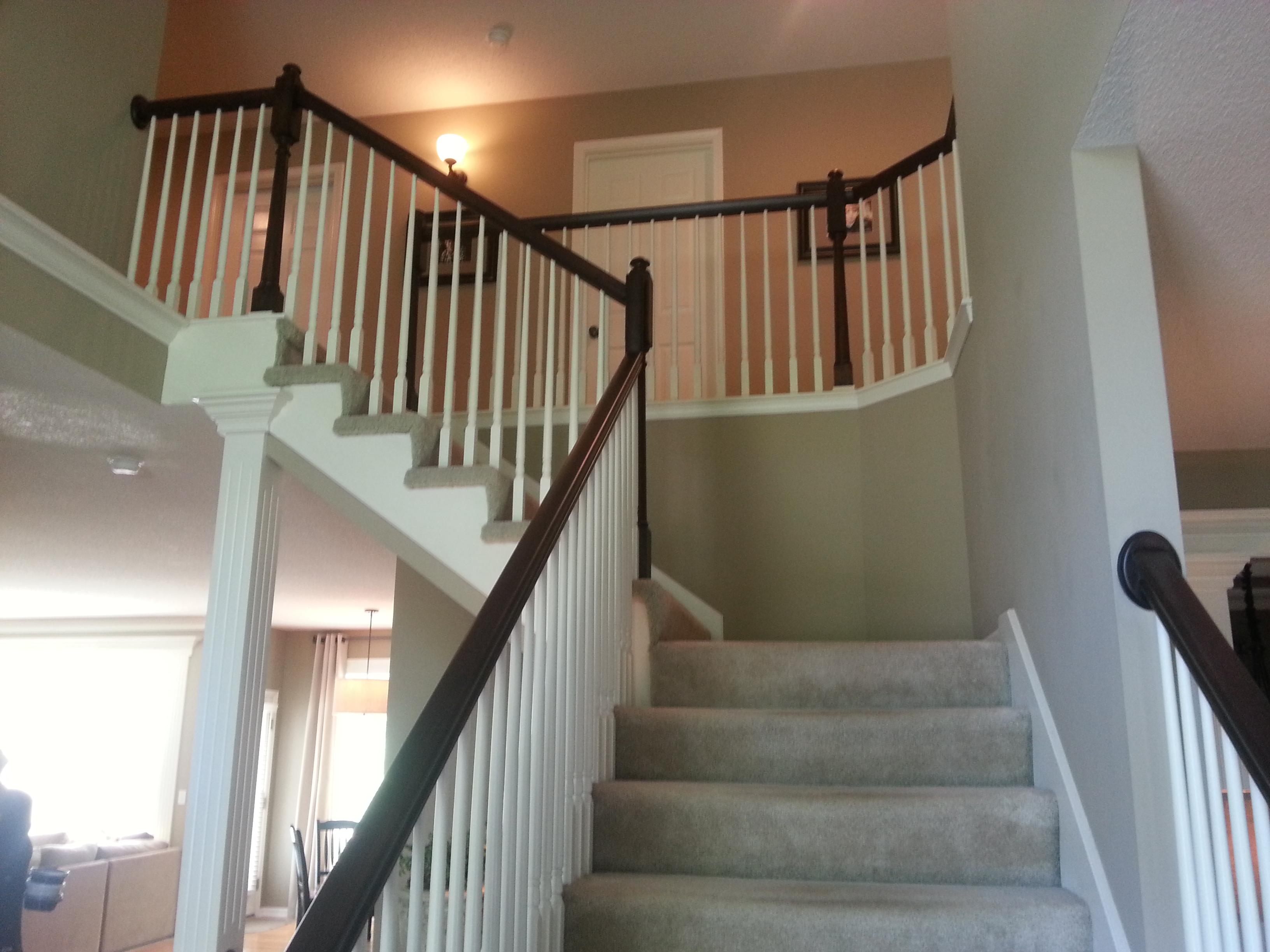 Shaker walnut handrail2