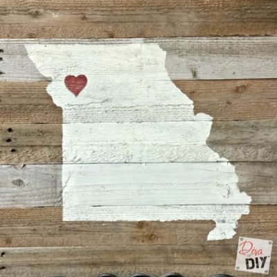 Reclaimed Wood State Sign