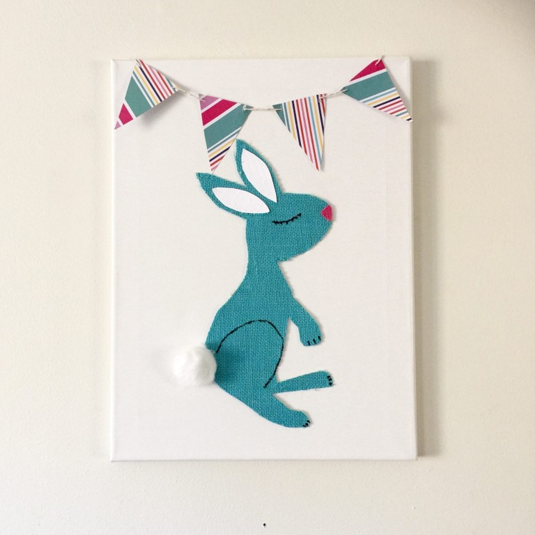 Burlap Bunny Easter Art : Our Craft Mom