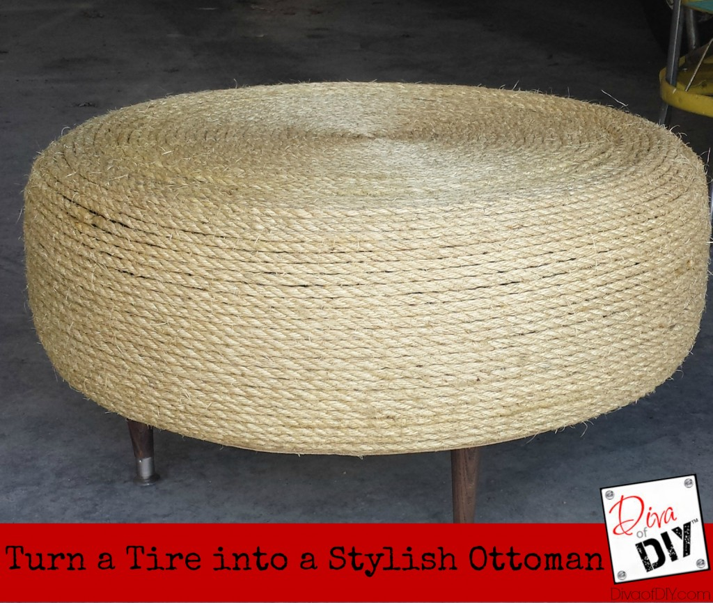 Easy diy tire ottoman solutioingenieria Images