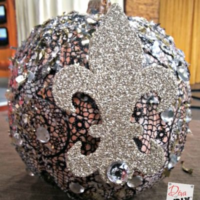 How to Bling Out a No Carve Pumpkin Liberace Style