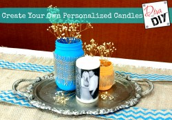 DIY Personalized Candles