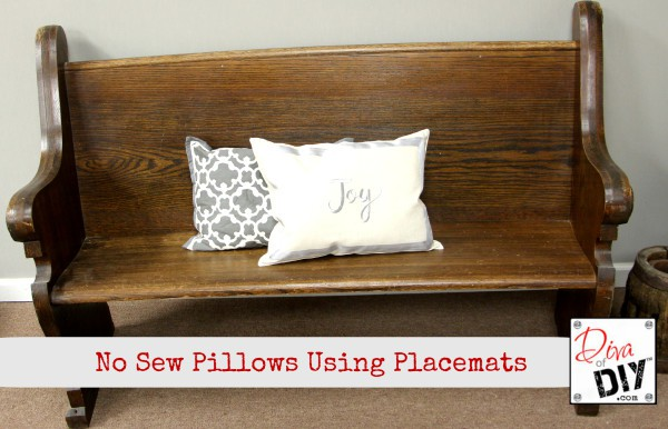 Make Pillows Withuot Sewing With Placemats