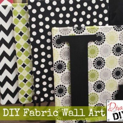 How to Create Beautiful Fabric Wall Art on a Dime
