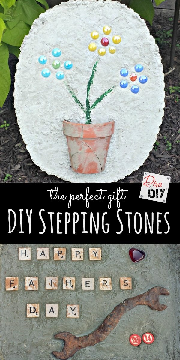 DIY Stepping Stones pin