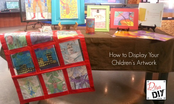 How to Display Childrens Artwork