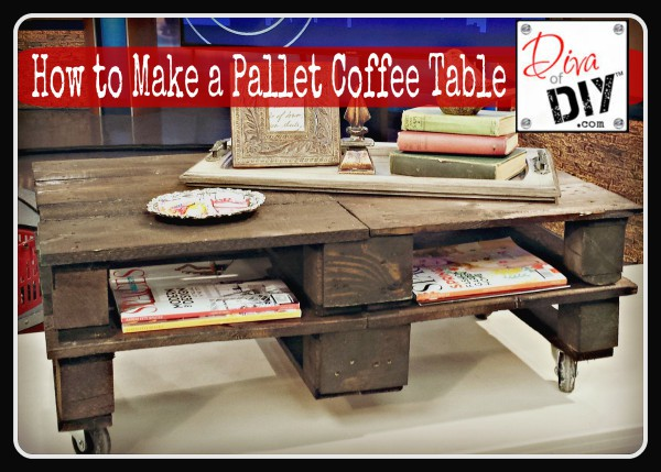Second…I love anything recycled and repurposed. I love the rough,  industrial look of pallet wood for projects and especially pallet coffee  tables. - How To Make The Perfect Pallet Coffee Table