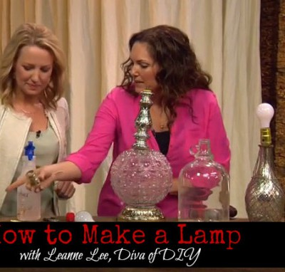 How to Make a Lamp Out of Garage Sale Finds