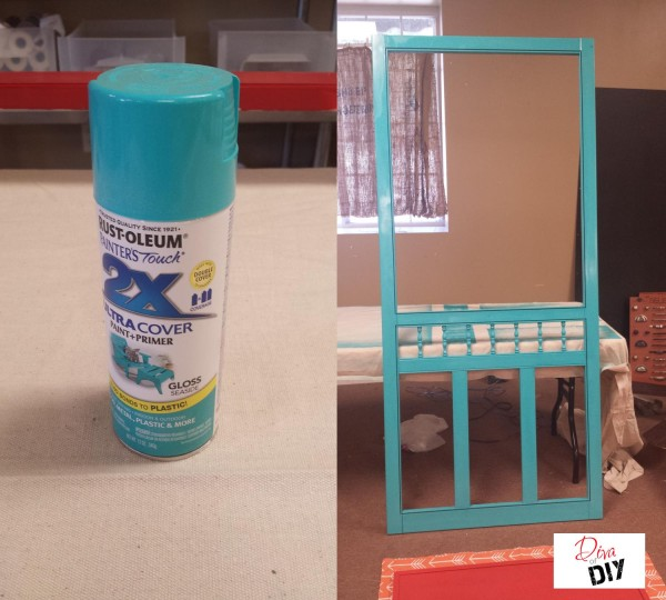 The perfect organization idea for the home! This DIY Family Organization Station is upcycled from a screen door! The ultimate DIY project to keep organized!