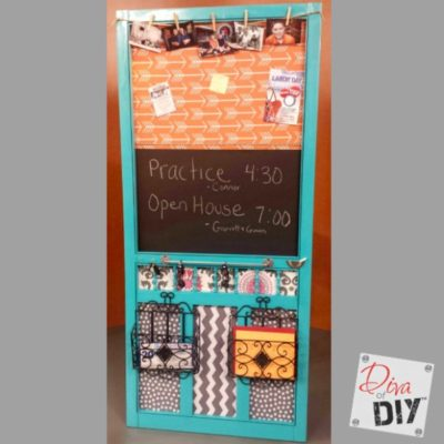 A DIY Organization Station from a Repurposed Screen Door