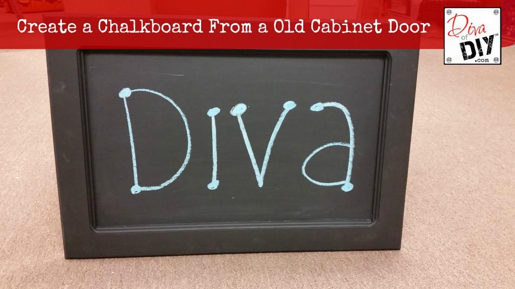 Chalkboard Cabinet Door
