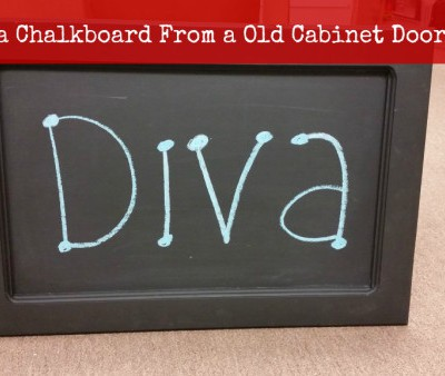 How to create a chalkboard out of an old cabinet door