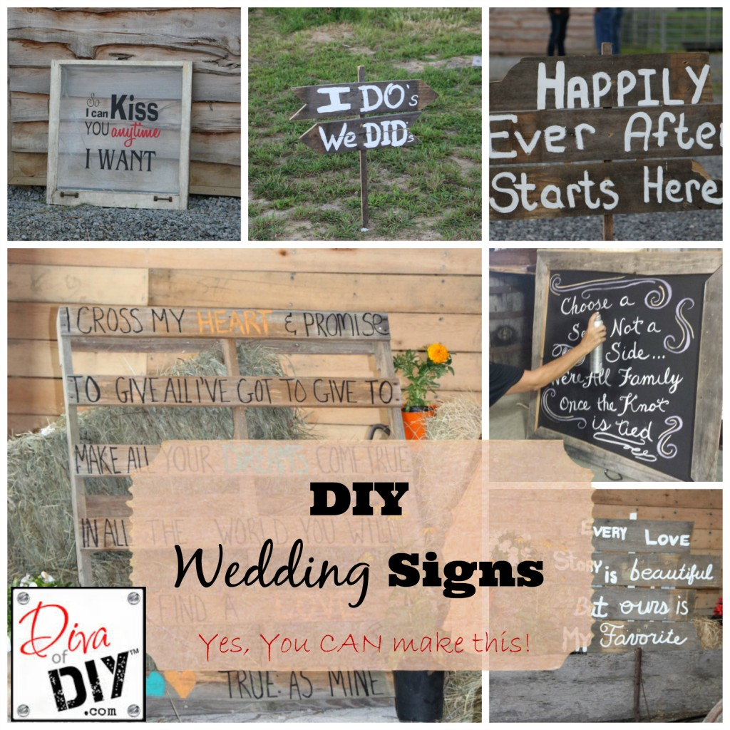 Cheap Wedding Ideas Signs