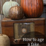 Turn those fake looking foam pumpkins from drab to fab with paint.