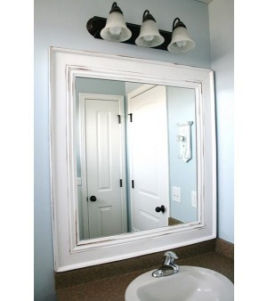 How to update a builder's grade bathroom mirror