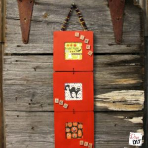 How to Make a Triptych Wooden Frame for Halloween