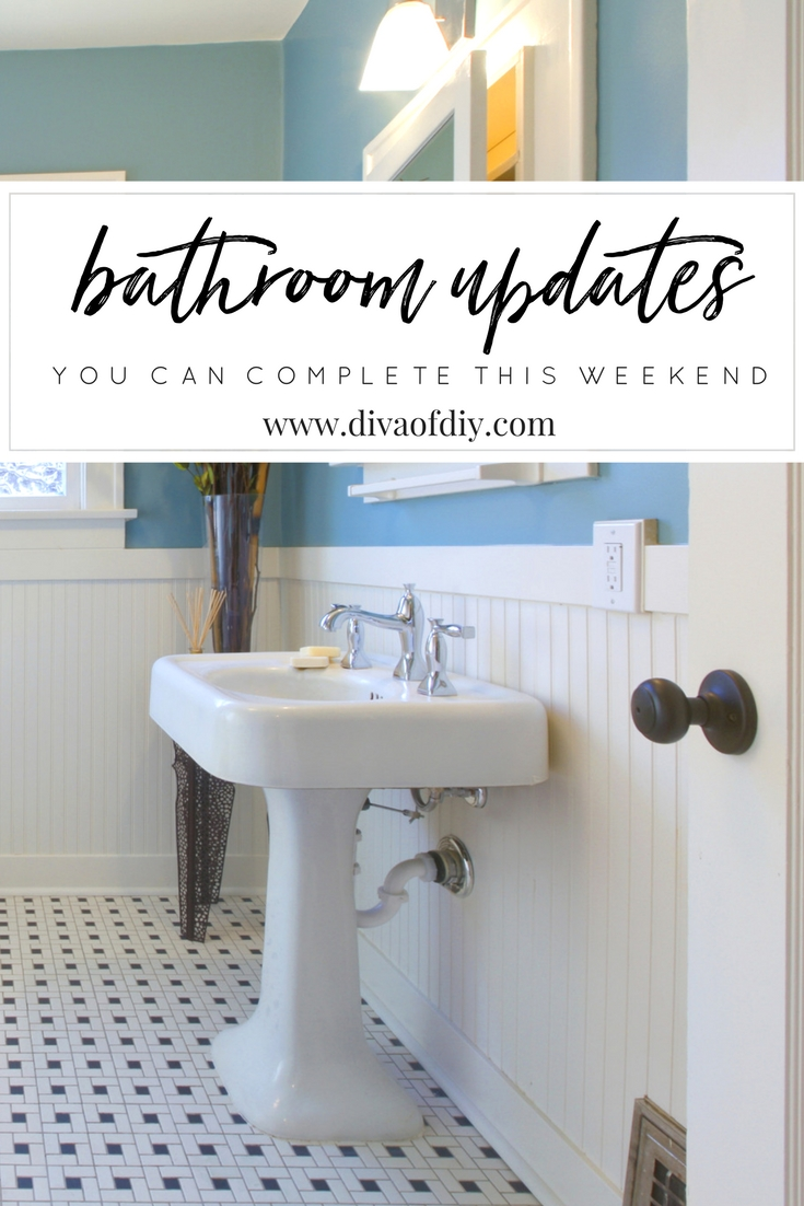 DIY Bathroom Updates You Can Do This Weekend! Www.divaofdiy.com