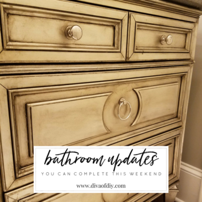 4 DIY Bathroom Ideas that are Quick and Easy