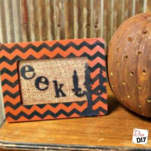 Chevron Decor: Make a Fun Halloween Dollar Frame