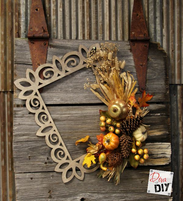 Fall Wreath: How To Make A Laser Frame Wreath