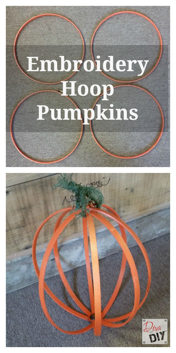 These unique wooden embroidery hoop orbs are the perfect fall decor! These pumpkins are full of personality and great for Thanksgiving decorating on budget!