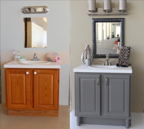 bath before and after with accessories upcycled bathroom ideas