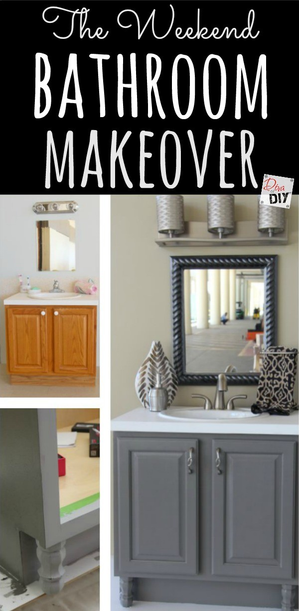 4 diy bathroom ideas that are quick and easy l diva of diy for Fast bathroom remodel