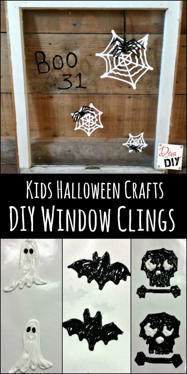 diy window clings are the perfect touch try some easy halloween crafts for kids to - Halloween Window Clings
