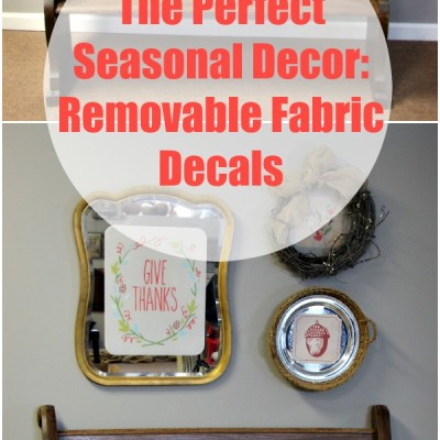 Inspired Decorating with Removable Fabric Decals