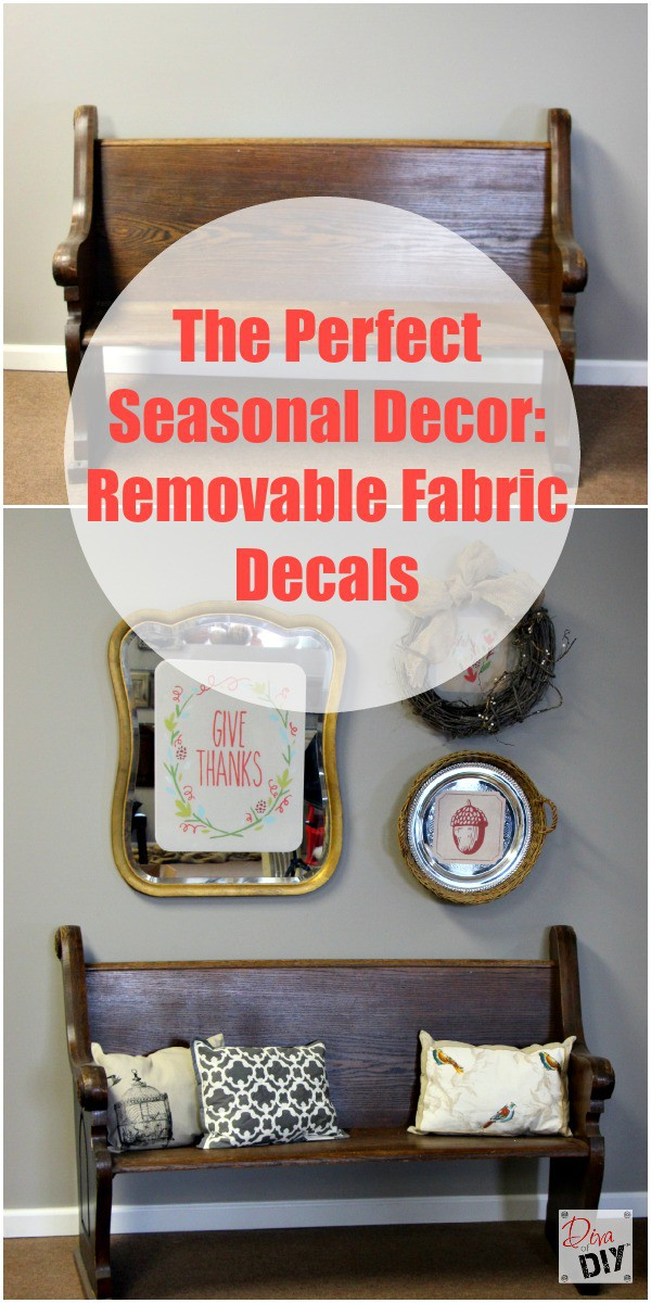 removable fabric decals