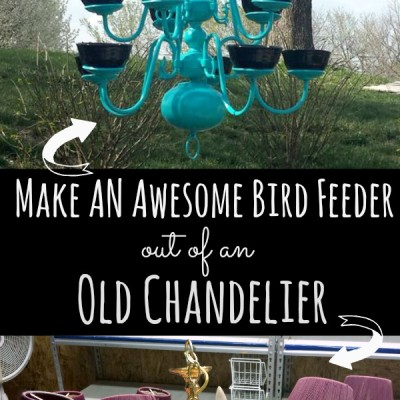Bird Feeder: How to Upcycle a Worn Chandelier