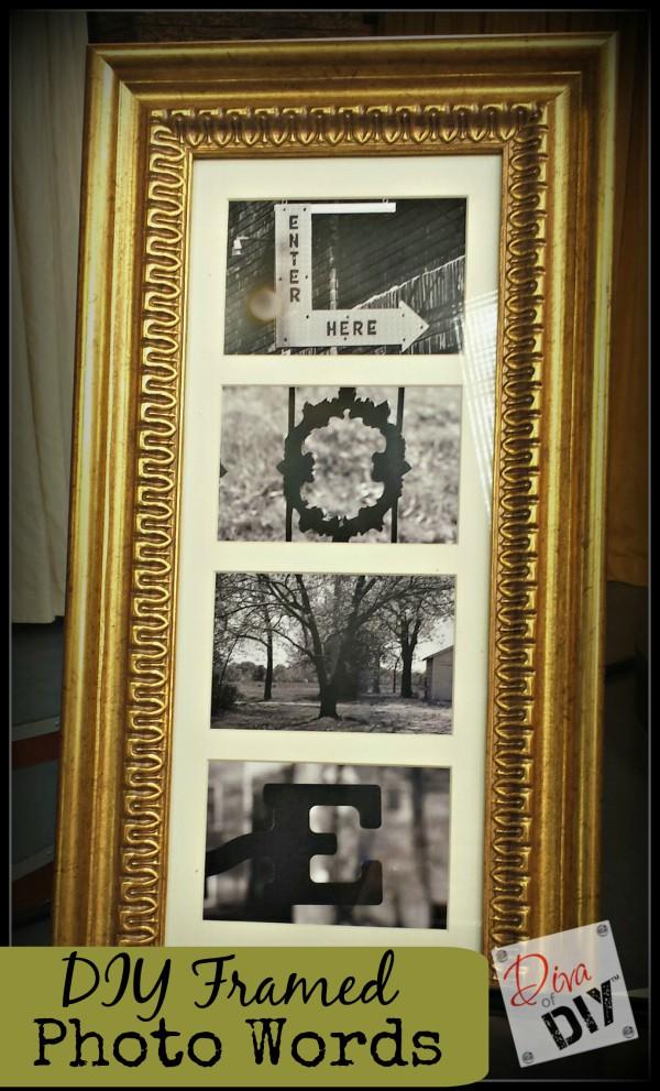 Framed DIY Photo Words