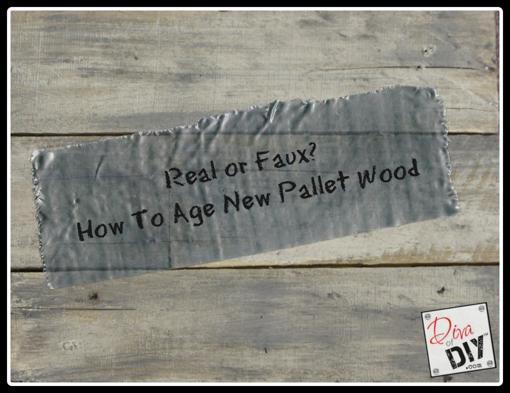 How to age new pallet wood