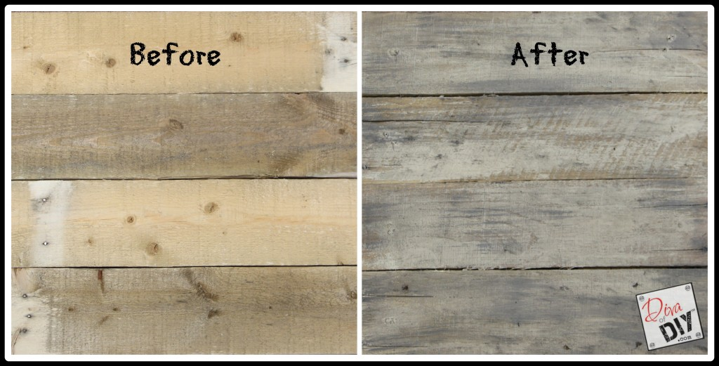 How to age new pallet wood before and after pic