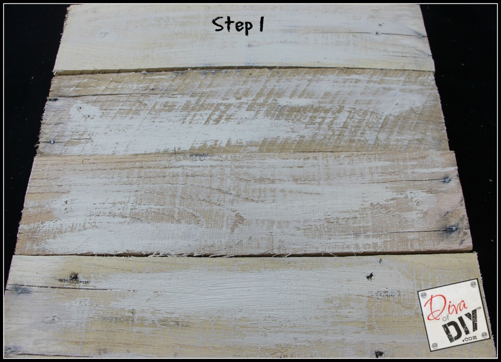 How to age new pallet wood step 1