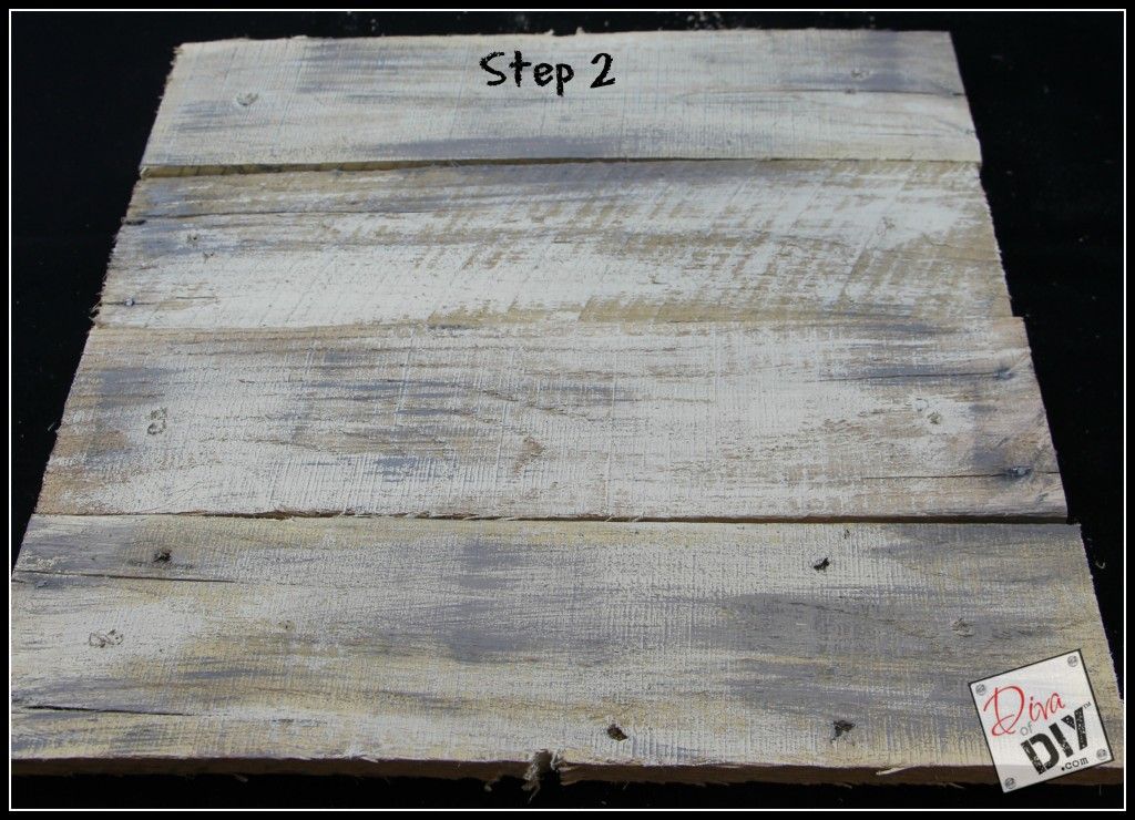 How to age new pallet wood step 2