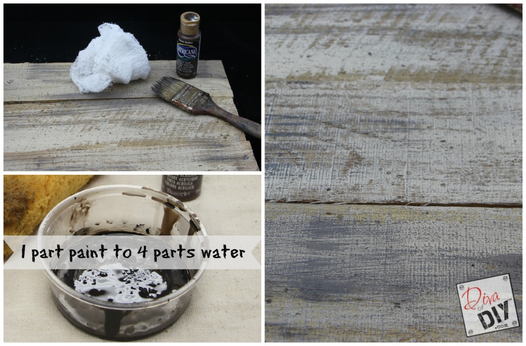 How to age new pallet wood step 3