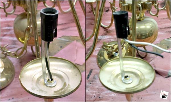chandelier bird feeder wires