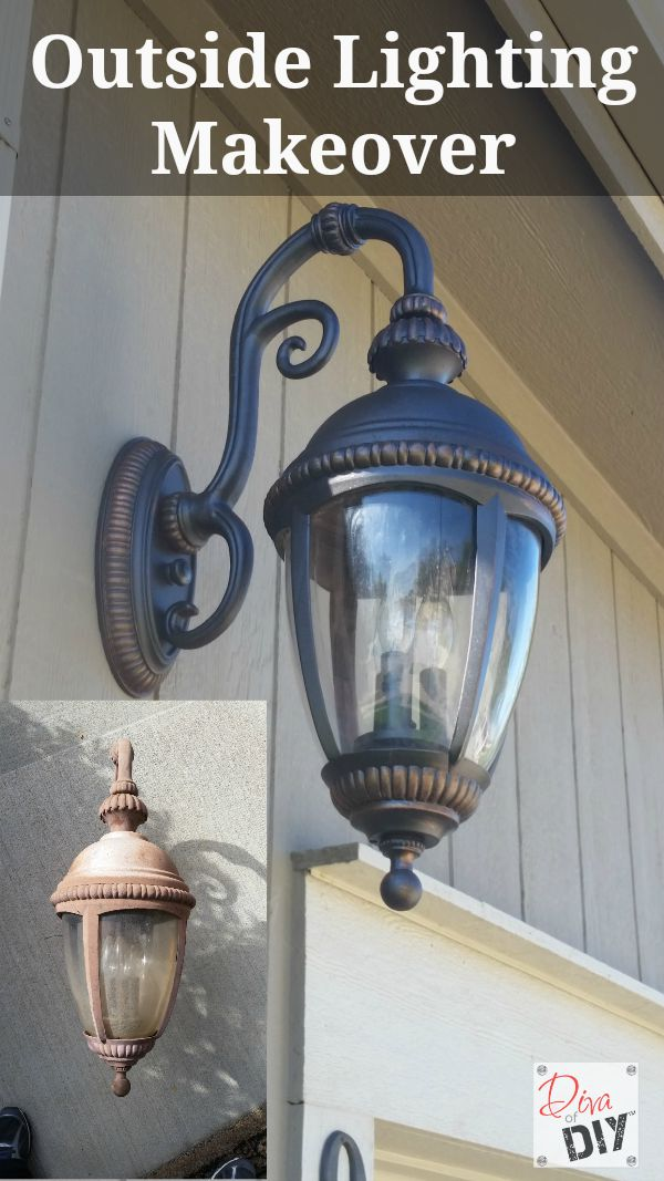 Update your outdoor lighting with this easy diy outdoor light makeover dont throw away those faded outdoor lighting fixtures add instant curb appeal with aloadofball Image collections