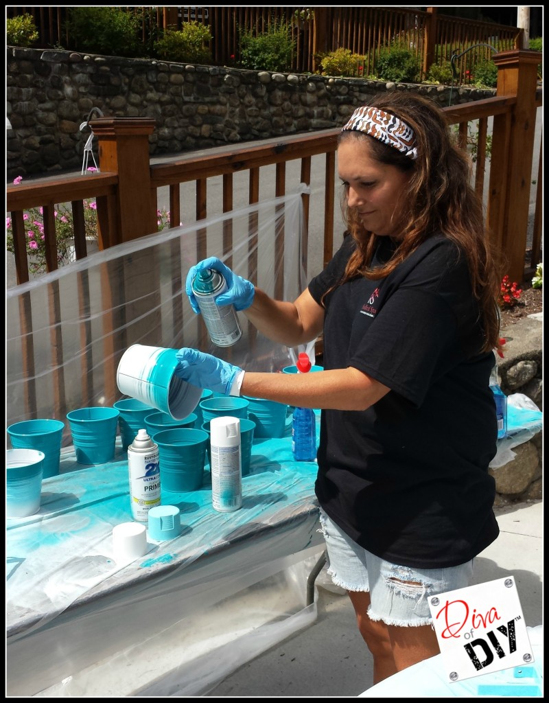 pic 2- Graduate the Colors of the Ombre Bucket-Create Your Own Ikea Ombre Buckets