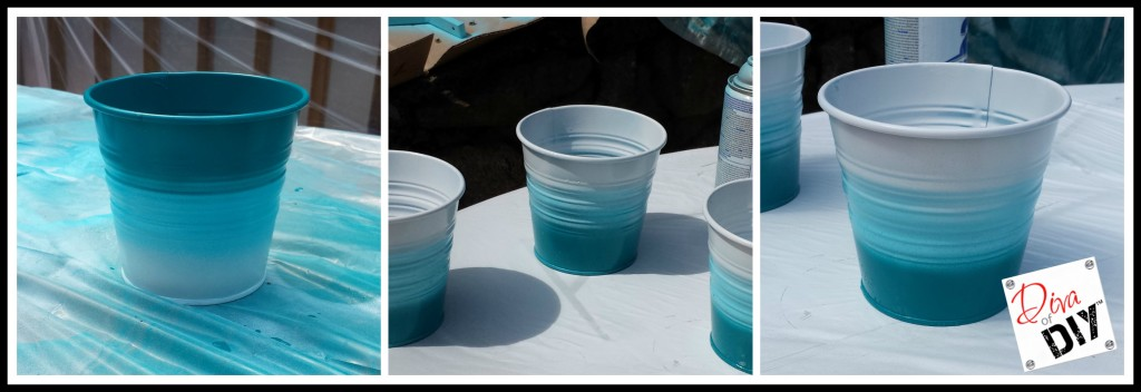 Create Your Very Own Ikea Ombre Buckets