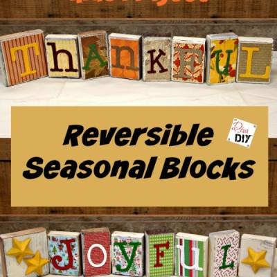 Seasonal Decorations: How to Make Reversible Blocks