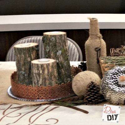 Candle Holders: Make Your Own Rustic Log Holders
