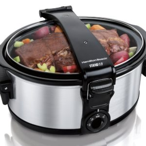 This portable crockpot is perfect for those Sunday potluck dinners