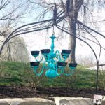 Updating you home lighting? Don't throw away that old brass chandelier... grab some spray paint and custard cups and make an awesome bird feeder!