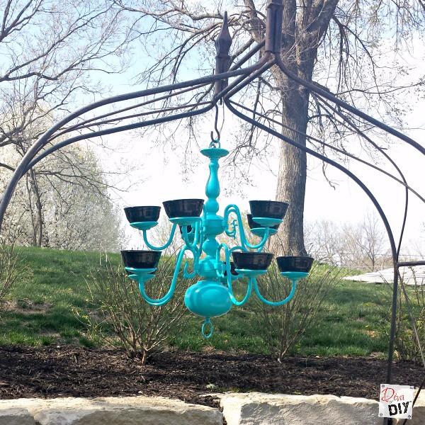 best service 7f61f 301f3 upcycled chandelier bird feeder square | Diva of DIY