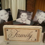 family photo blocks