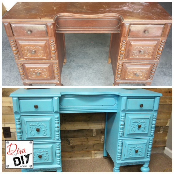 Beautiful Desk Makeover Diva Of Diy